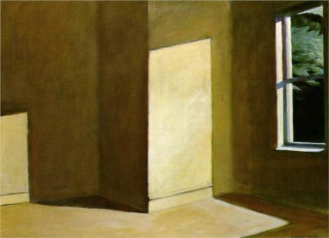 Sun in an empty room by Edward Hopper