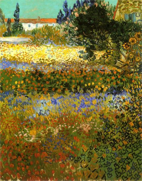 Flowering garden by Vincent van Gogh