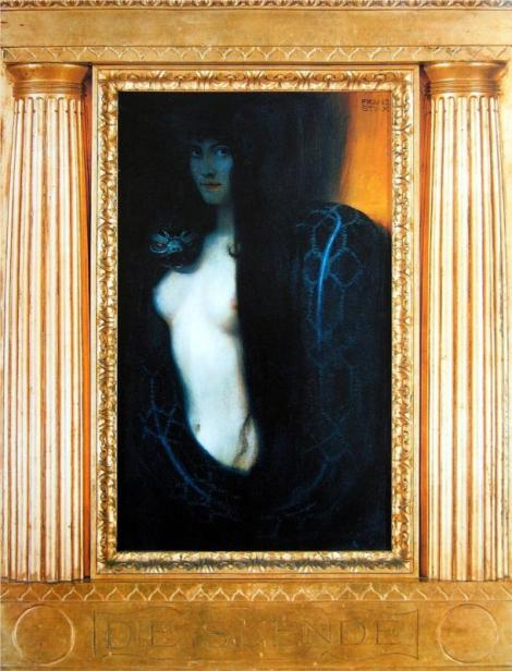 The sin by Franz Stuck