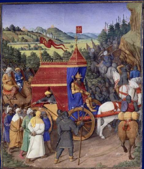 Triumph of Jehoshaphat over Adad of Assyria by Jean Fouquet