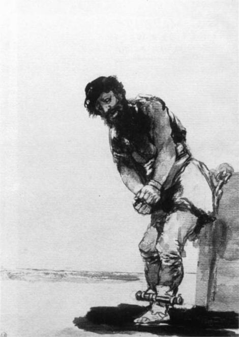 Chained Prisoner by Francisco Goya