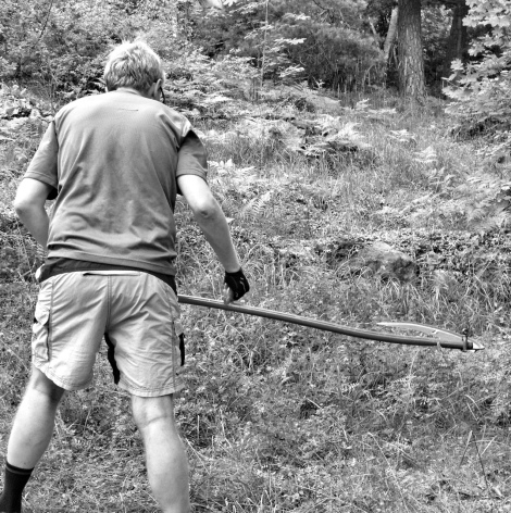 Using a scythe in my garden