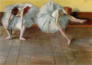 Two ballet dancers by Edgar Degas