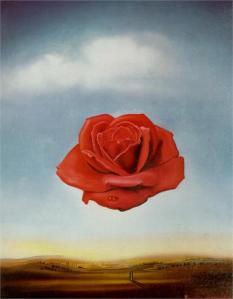 Meditative Rose by Salvador Dali