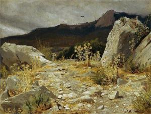 Mountain Path, Crimea by Ivan Shishkin