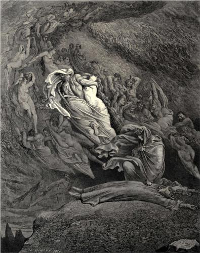 The Inferno, Canto 5, by Gustave Doré