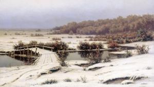 First Snow by Efim Volkov