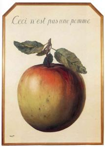 This is not an apple by René Magritte