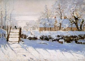 http://www.wikipaintings.org/en/claude-monet/the-magpie-1869