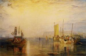 Sunrise, Whiting Fishing at Margate by William Turner