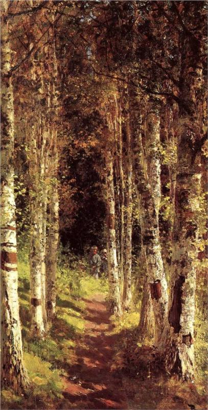 The birchwood alley by Vasily Polenov