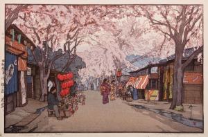 Avenue of Cherry Trees by Hiroshi Yoshida