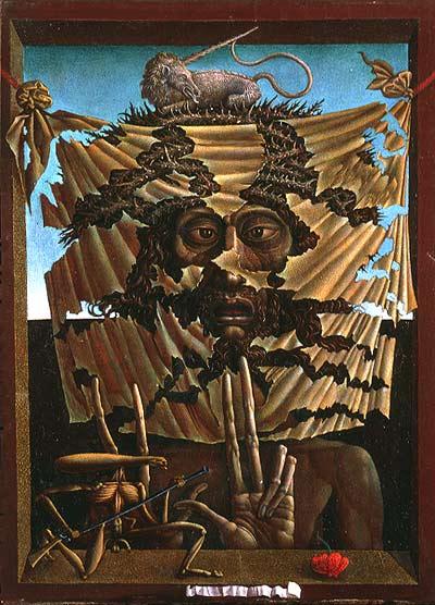 Behind of Veronica's Veil by Ernst Fuchs