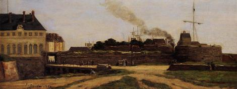Le Havre, the Town Hotel and the Francois I Tower by Eugene Boudin