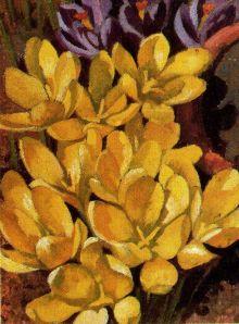 Crocuses by  Stanley Spencer