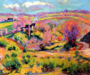 Landscape of Creuse at spring by Armand Guillaumin