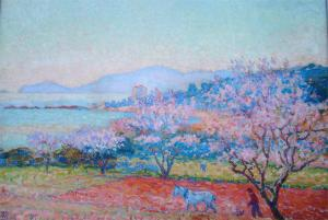 The almond flowers by Theo van Rysselberghe