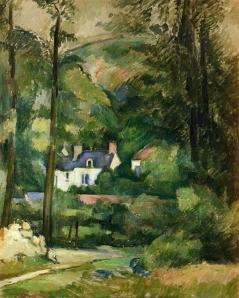 Houses in Greenery by Paul Cezanne