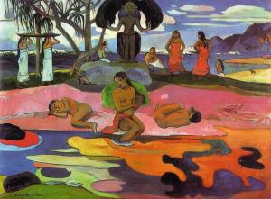 Day of the gods by Paul Gauguin