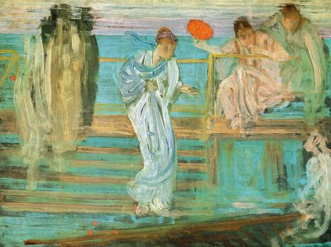 Symphony in white and red by James McNeill Whistler