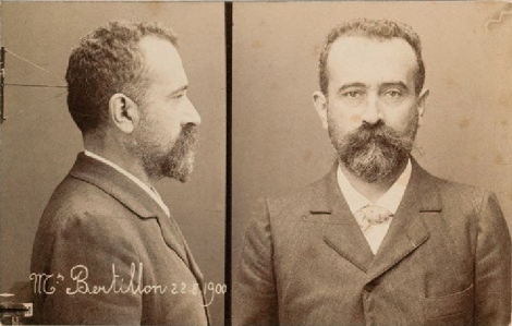 Mugshot of Alphonse Bertillon