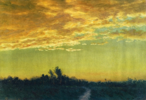 Twilight over the Path by Albert Bierstadt