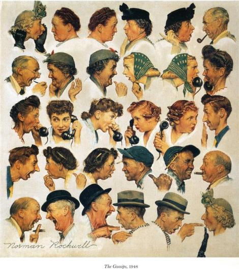 The Gossip by Norman Rockwell