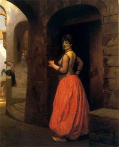 Woman from Cairo Smoking a Cigarette by Jean-Leon Gerome