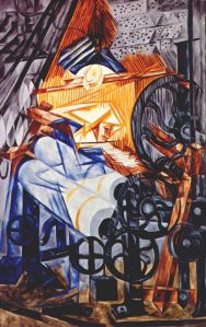 The weaver (loom+woman) by Natalia Goncharova
