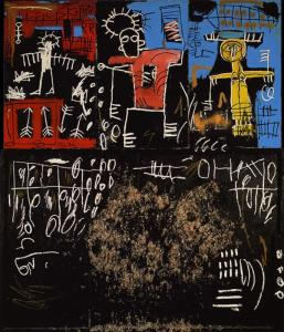 Black tar and feathers by  Jean-Michel Basquiat
