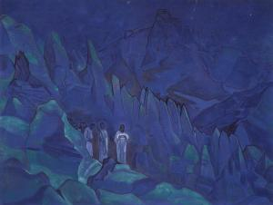 Burning the darkness by Nicholas Roerich