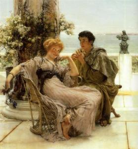 Courtship the Proposal by Sir Lawrence Alma-Tadema