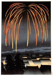 Festival nights fireworks by Yamamura Toyonari