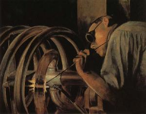 Helix Welder by Grant Wood