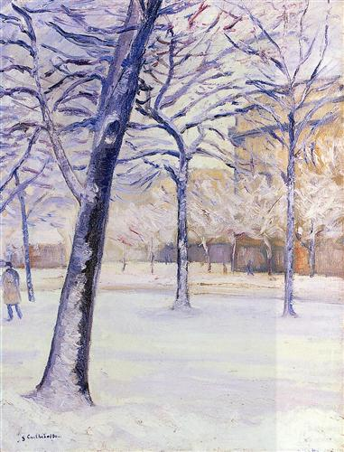 Park in Snow by Gustave Caillebotte