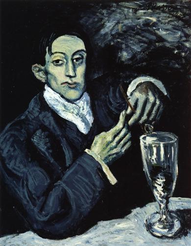The Absinthe Drinker (Portrait of Angel Fernandez de Soto) by Pablo Picasso