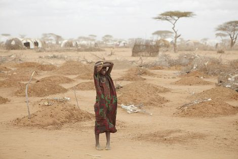 A mass grave for children in Dadaab by Oxfam east Africa