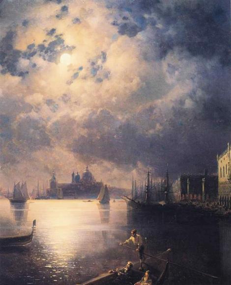 Byron in Venice by Ivan Aivazovsky