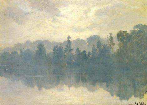 Krestovsky Island Shrouded in Mist by Ivan Shishkin