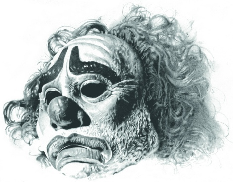 Clown Print by Ewen Brown under Creative Commons license