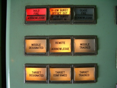 Nike missile status panel by Todd Lappin,
