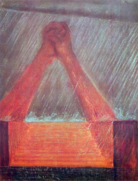 Deluge (VI) by Mikalojus Ciurlionis