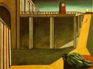 Gare Montparnasse (The Melancholy of Departure) by Giorgio de Chirico