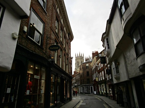 Petergate, with a view of York Minster, York, UK photo by Tess Kincaid