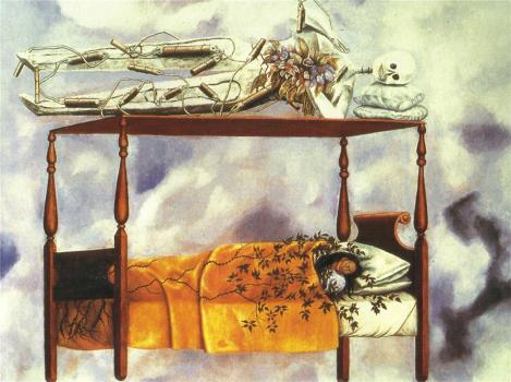 The Dream, (the bed) by Frida Kahlo
