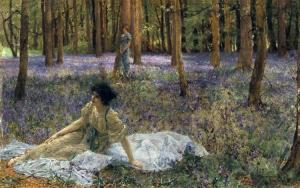 Bluebells by Sir Lawrence Alma-Tadema