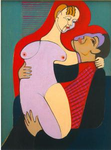 Great Lovers (Mr and Miss Hembus) by Ernst Ludwig Kirchner