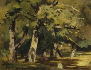 Oaks in sunlight by Ivan Shishkin