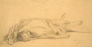 The dead Caesar by Jean-Leon Gerome