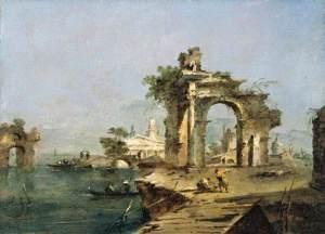 Venetian Capriccio by Francesco Guardi